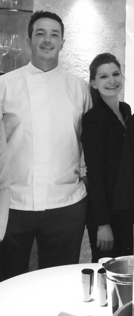 Sylvain & Sarah SENDRA dans leur restaurant ITINERAIRES, 5 rue de Pontoise, 75005